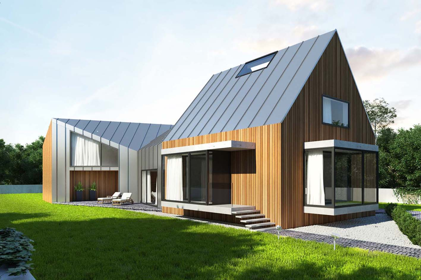 Project of a single-family house in Oporow, Wrocław, 350m2