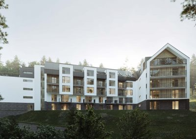Aparthotel project in the mountains