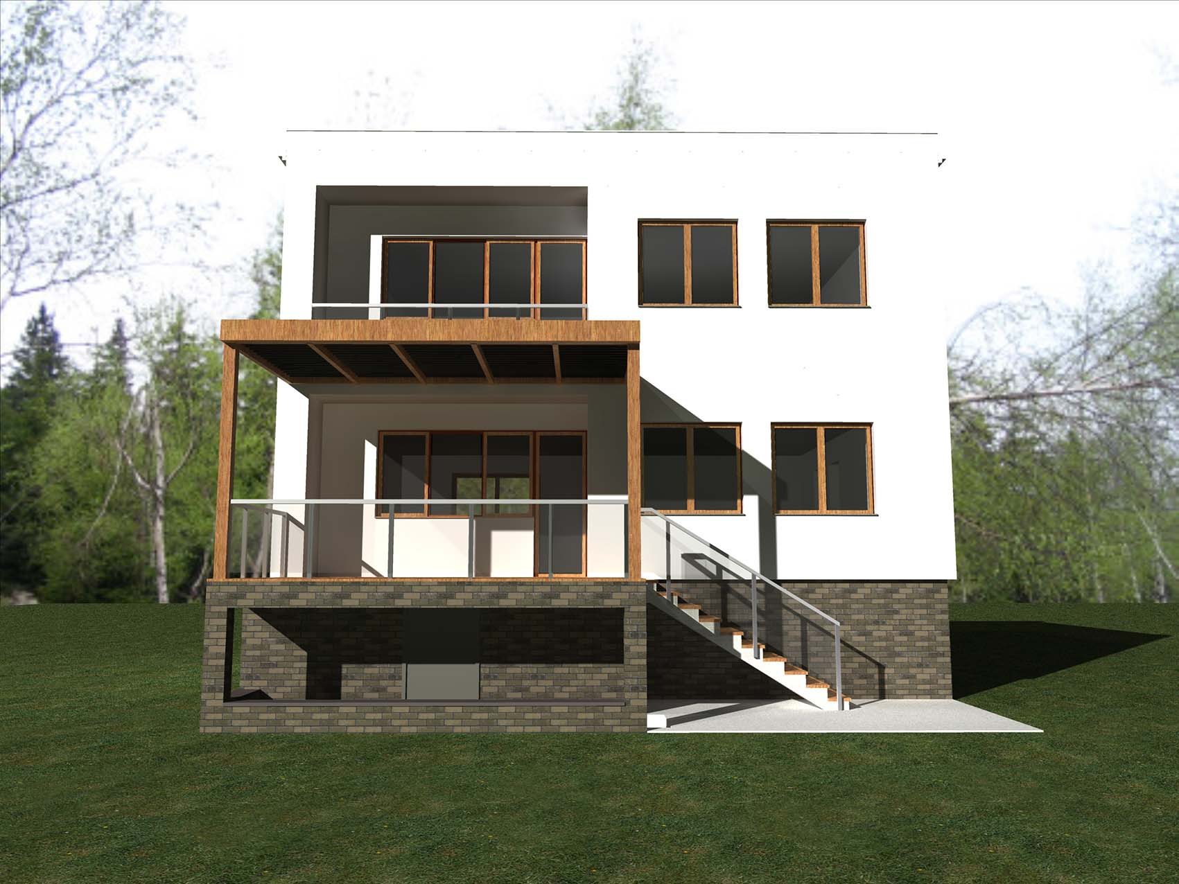Single family- concept facades and interiors Wrocław, Wietrzna St. Surface: 130 m2 – AFTER RENOVATION