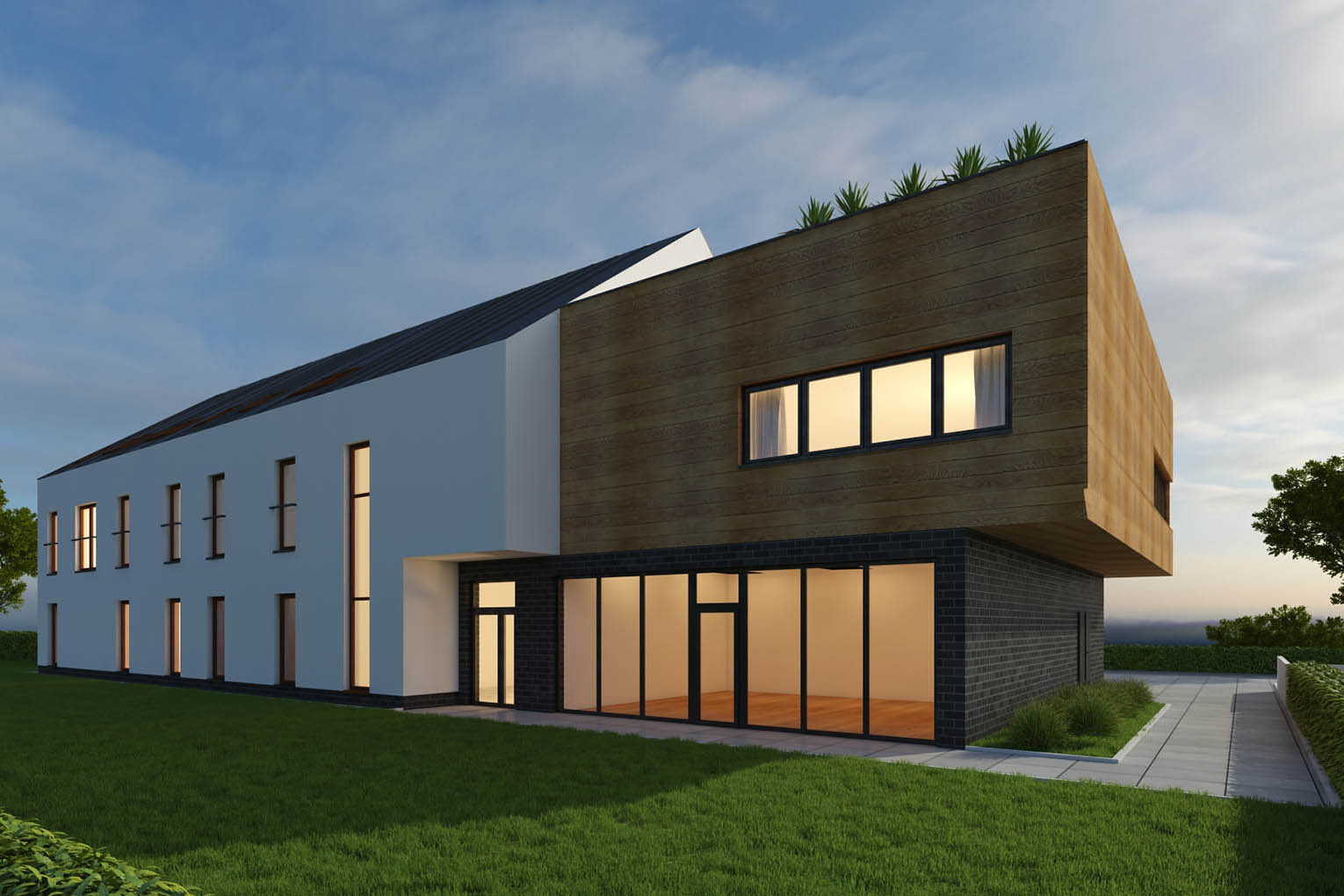 Multi-family building with services, Siechnice, 850 m2