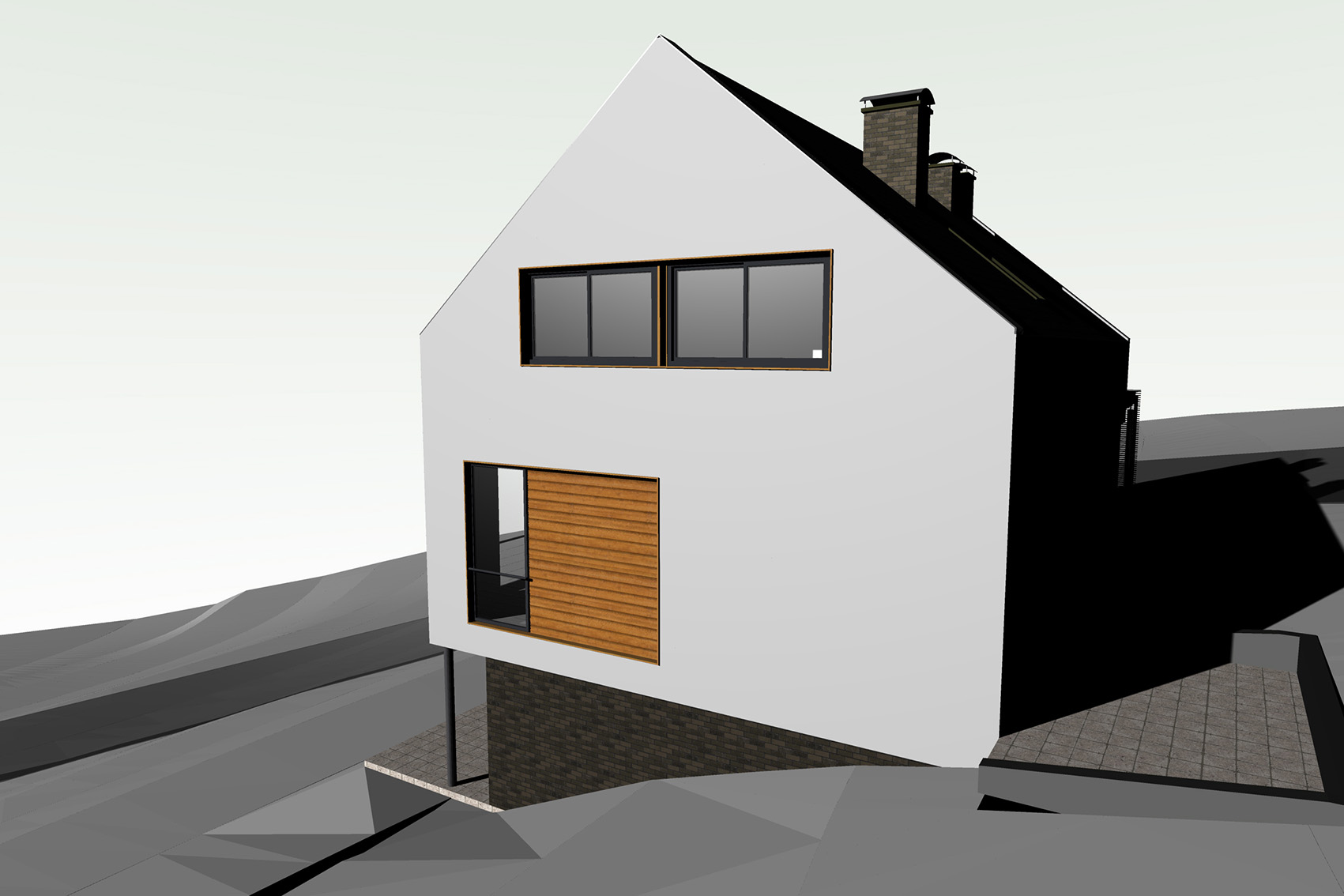 Detached house in the mountains Brenna Surface: 234,7 m2 + 40 m2 garage