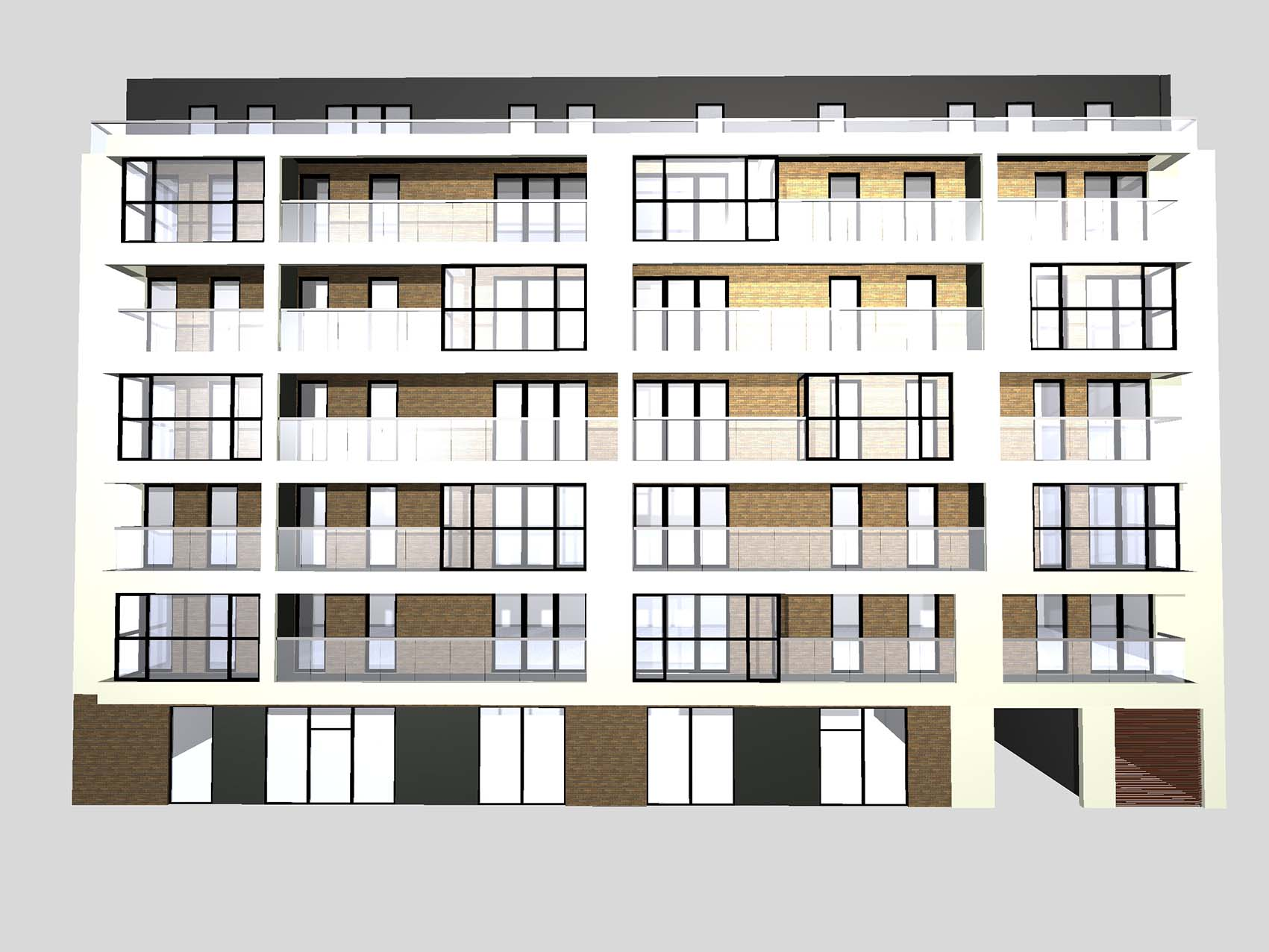 Residential and commercial building Wrocław, Żeromskiego St. Investor: Inter System. Surface: 3 526 m2 – AFTER RENOVATION