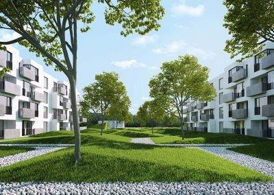 Design of multi-family buildings in Lublin, co-author arch. Maciej Smoliński, Surface: 12 000 m2