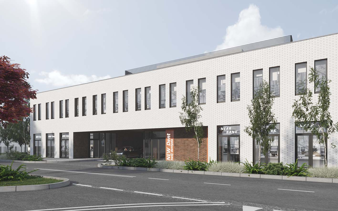 Design of an office and service building in Kobyłka