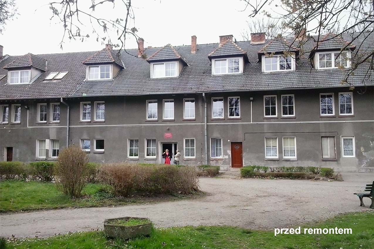 Thermo-modernization with the reconstruction of the boarding house in Krzyżowice - before renovation