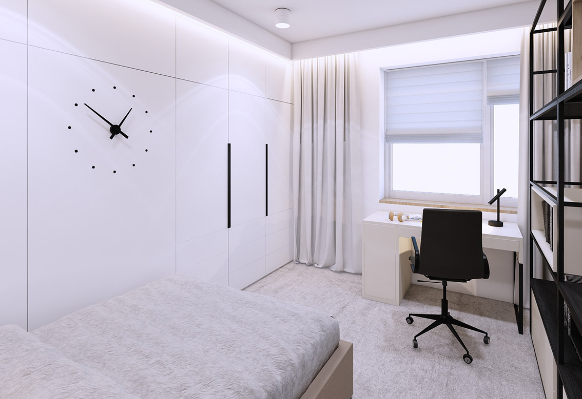 Bedrooms and office in the apartment